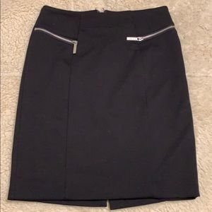 Michael Kors black skirt with zippers in front.